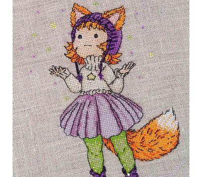 Cure Fox Girl cross stitch chartCure Fox Girl cross stitch pattern