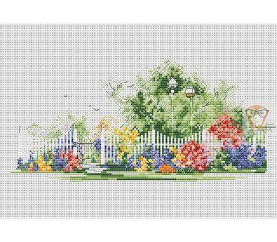Garden cross stitch pattern