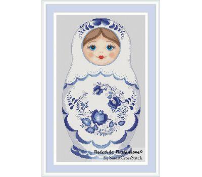 Gzel Matreshka Doll cross stitch chart