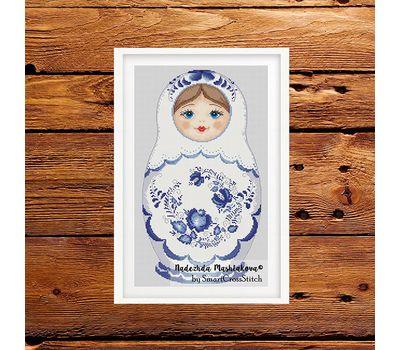 Gzel Matreshka Doll cross stitch pattern