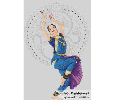 Indian Dance cross stitch chart