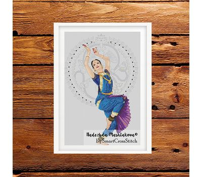 Indian Dance cross stitch pattern
