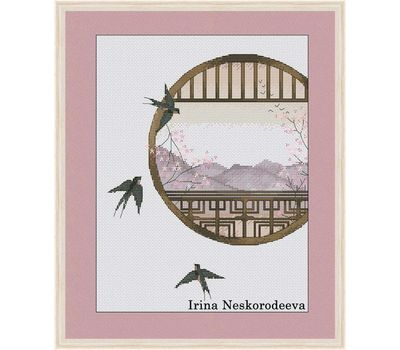 Japanese View Free cross stitch chart