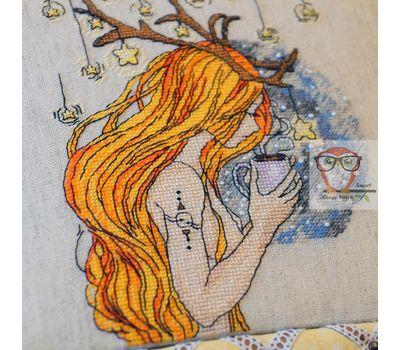 Deer Girl Free cross stitch pattern