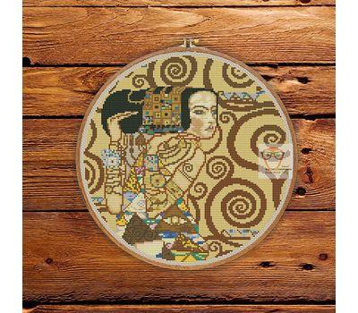 L'Attente by Klimt cross stitch pattern