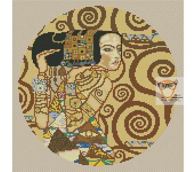 L'Attente by Klimt cross stitch chart