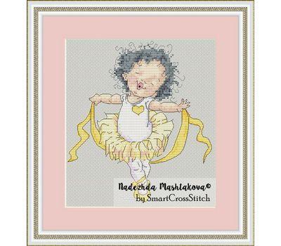 Little Dancer Girl cross stitch chart