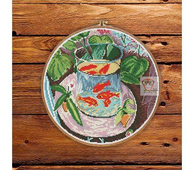 Henry Matisse Red Fish cross stitch pattern