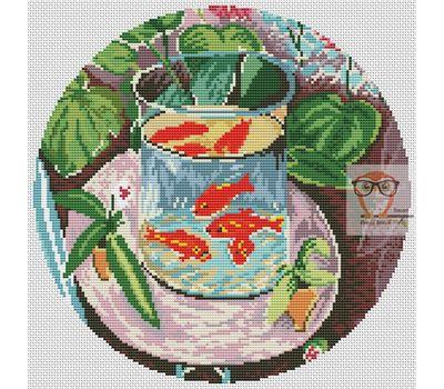 Henry Matisse Red Fish cross stitch chart