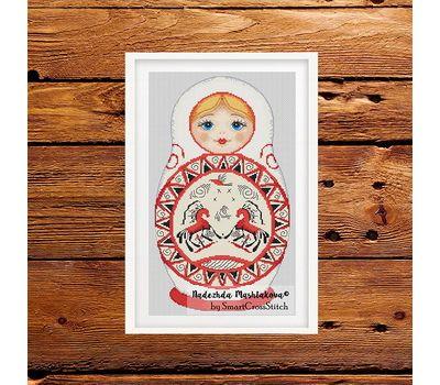 Matreshka Doll cross stitch pattern