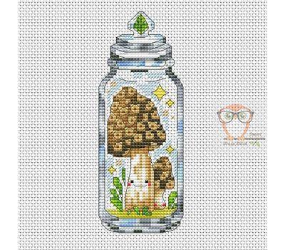 Morel Mushroom cross stitch chart