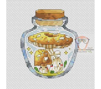 Mushrooms in the jar #7 cross stitch chart
