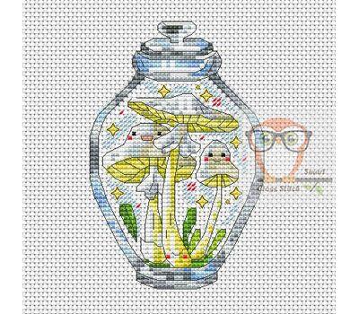 Mushrooms in the jar #9 cross stitch chart