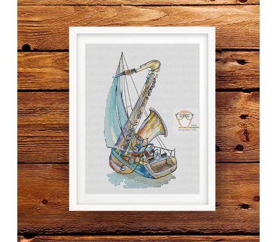 Music of the Wind cross stitch pattern
