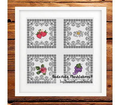 Summer Minies - Fruits cross stitch pattern