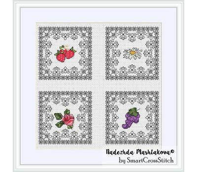 Summer Minies - Fruits cross stitch chart
