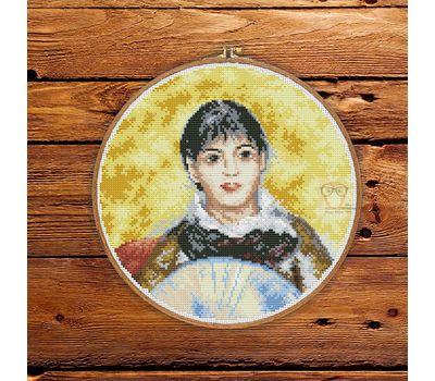 Girl with a Fan by Renoir cross stitch pattern