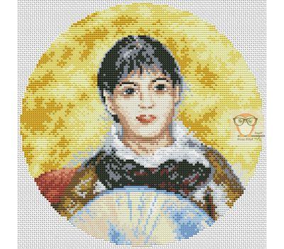 Girl with a Fan by Renoir cross stitch chart