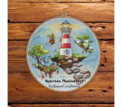 Lighthouse Round cross stitch pattern