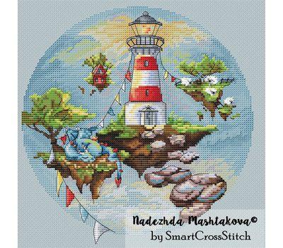 Lighthouse Round cross stitch chart