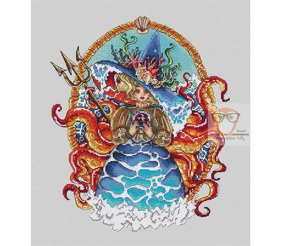 Sea Witch cross stitch chart
