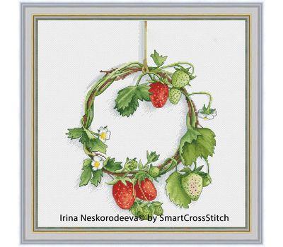Strawberry Wreath cross stitch chart