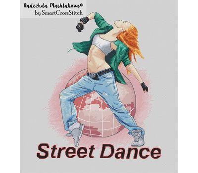 Street Dance cross stitch chart
