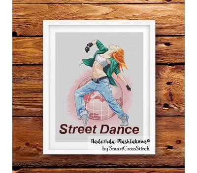 Street Dance cross stitch pattern