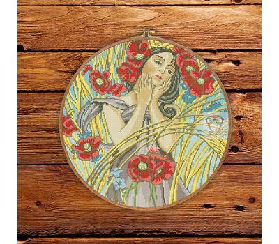 Summer Lady by Alfons Mucha cross stitch patternSummer Lady by Alfons Mucha cross stitch pattern