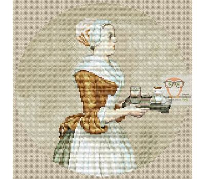 The Chocolate Girl by Jean-Étienne Liotard cross stitch chart