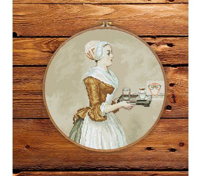 The Chocolate Girl by Jean-Étienne Liotard cross stitch pattern
