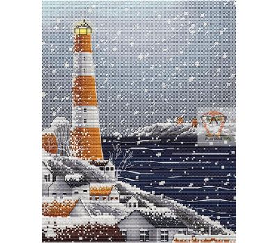 Winter Lighthouse Cross stitch chart