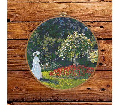 Woman in the Garden by Claude Monet cross stitch pattern