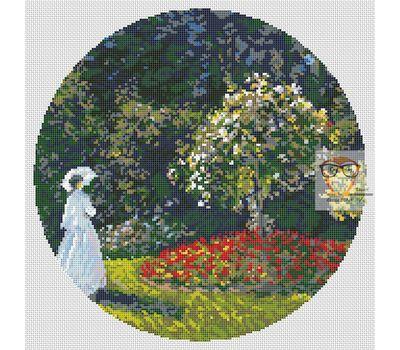 Woman in the Garden by Claude Monet cross stitch chart