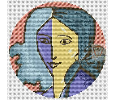 Henry Matisse Woman Portrait cross stitch chart