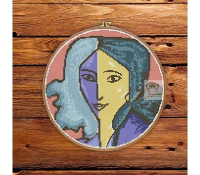Henry Matisse Woman Portrait cross stitch pattern