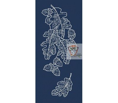 Oak Tree Leaves Cross Stitch chart