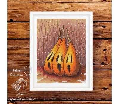Pumpkin Trio Halloween cross stitch pattern