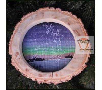 Winter Deer free cross stitch pattern
