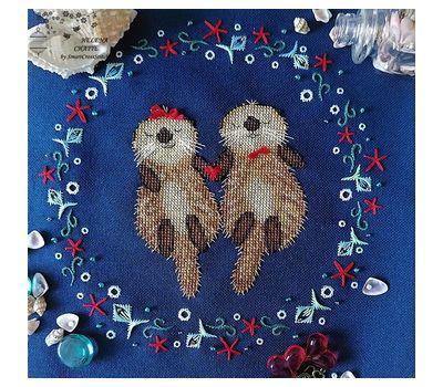 Beavers Couple Cross Stitch pattern