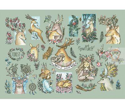 Deer Sampler Cross stitch chart