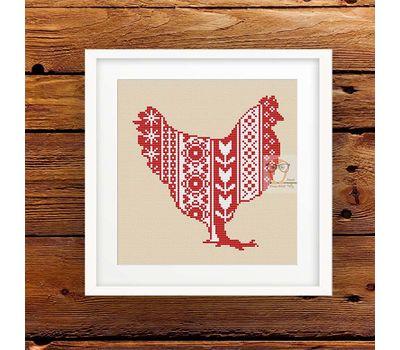 Easter Hen ornament cross stitch pattern