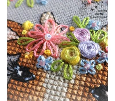 Flower Cow Cute embroiderypattern