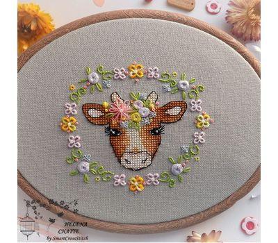 Flower Cow Cute cross stitch pattern
