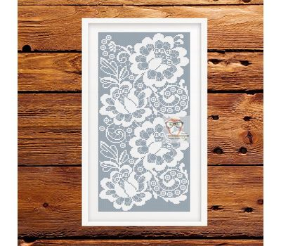 Flower Lace Ornament free cross stitch chart