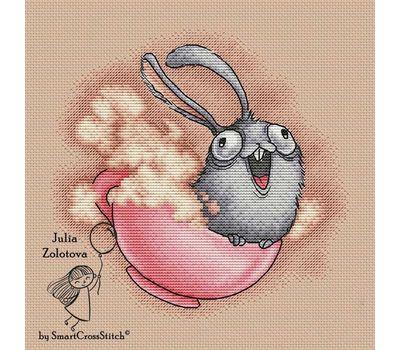 Funny Cappuccino Bunny cross stitch chart