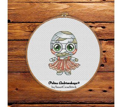 Mummy Girl cross stitch chart