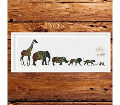 African Geometric Animals cross stitch pattern