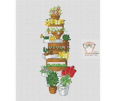 Garden Boxes free cross stitch chart