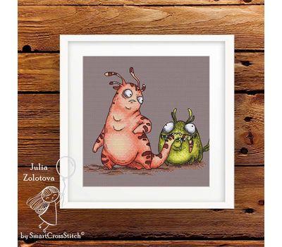 Funny Little Monsters cross stitch pattern